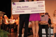 Bob Spurlock with Scholarship Recipient Ellie Junker on Honors Night